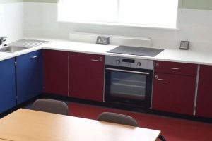 Food Technology Classroom Design with Cookers at lower height