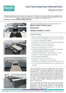 CASE STUDY Weydon food Room