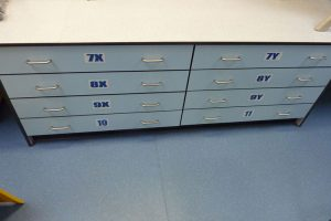 Design and technology furniture with drawer storage for Braunton Academy