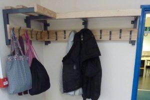 School coat pegs for Braunton Academy