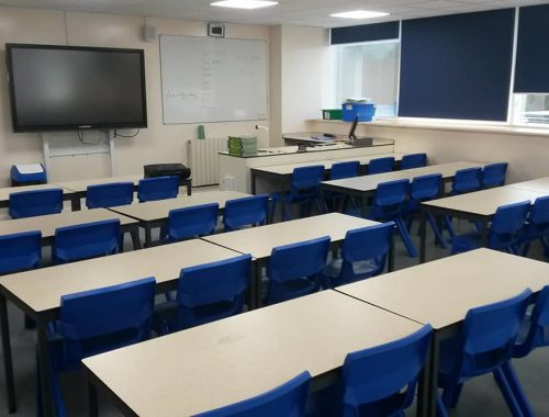 Science lab furniture theory area