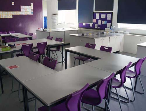 Royal Masonic School Science Laboratory furniture