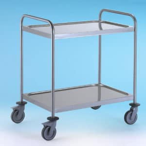 2 Tier stainless steel trolley.