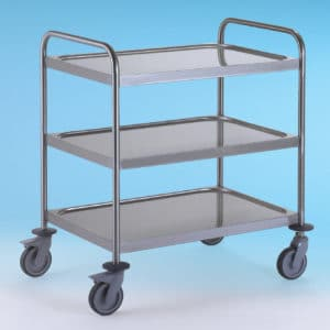 3 Tier stainless steel trolley