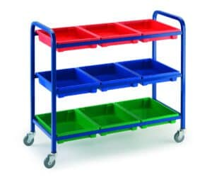Klick Technology General Purpose Tray Trolley with 9 tray variation