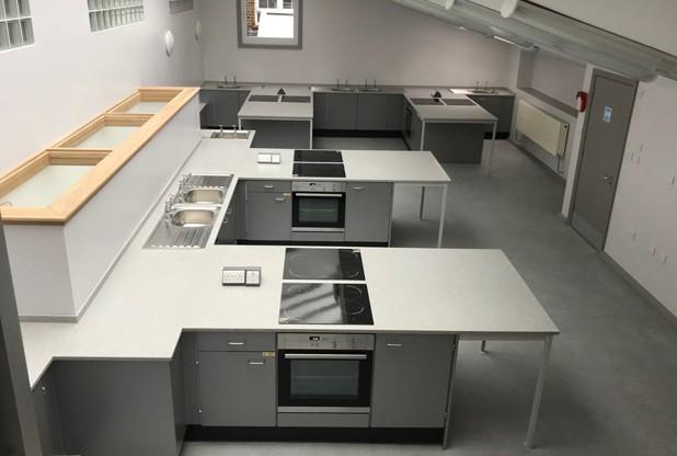 Primary School Food Technology room with Velstone worktops