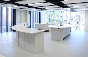 Tonbridge School modern science laboratory.