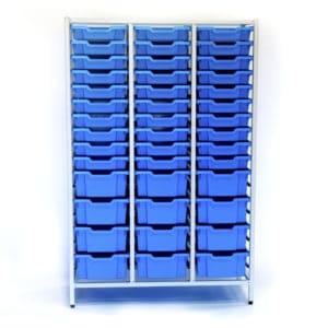Blue large 54 tray storage