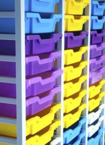 Blue Yellow Purple large 54 tray storage
