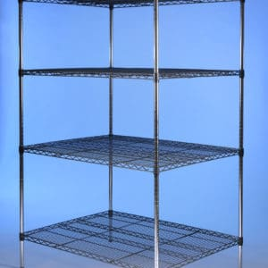 Deep nylon coated racking, 4 tier, static.