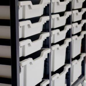 Grey 24 Tray Storage