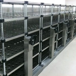 Pack store stainless steel racking