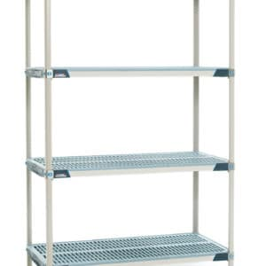 Metro Max i shelving, 4 tier, static.