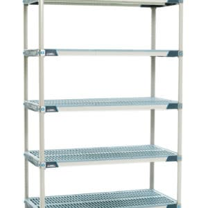 Metro Max i shelving, 5 tier, static.