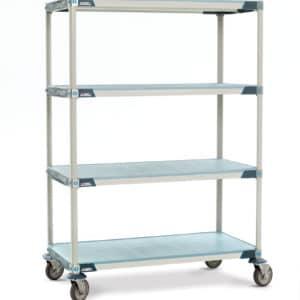 Metro Max I, solid shelf, 4 tier, mobile.