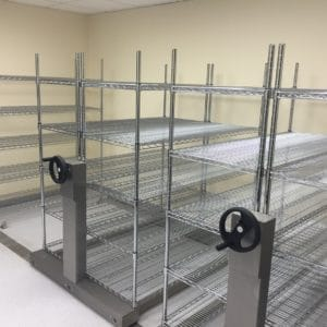Stainless steel roller racking with stainless steel wire racking