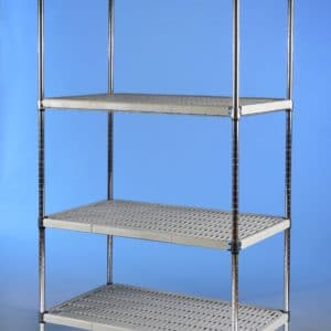 Polyrakk 4 tier static