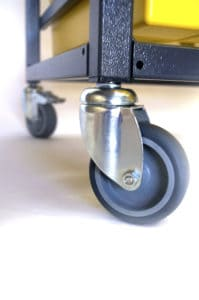Tray storage wheel