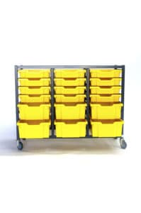 Yellow 24 Tray Storage