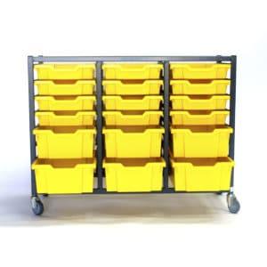 Yellow 24 Tray Storage