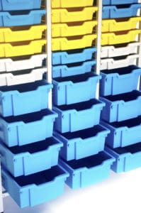 Yellow blue large 54 tray storage