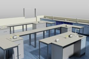 3D visual of serviced bollards and loose tables