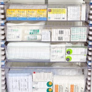 HTM71 Trays storage for hospitals.