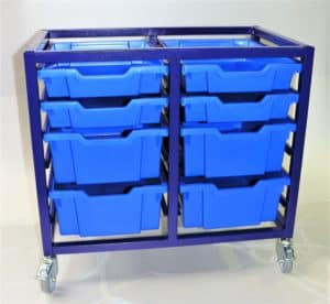 Superstack 12, 4 x double & 4 x Single trays, 75mm castors, no MFC top.