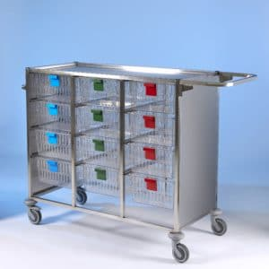 Klick Technology HTM71 Stainless Steel Trolley, with fold down hanging rail