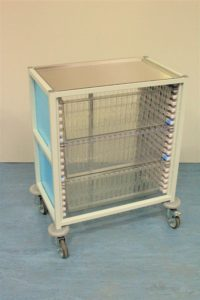 Klick Technology Low Level HTM71 Trolley, shown with 3 x 200mm Full Size HTM71 Trays