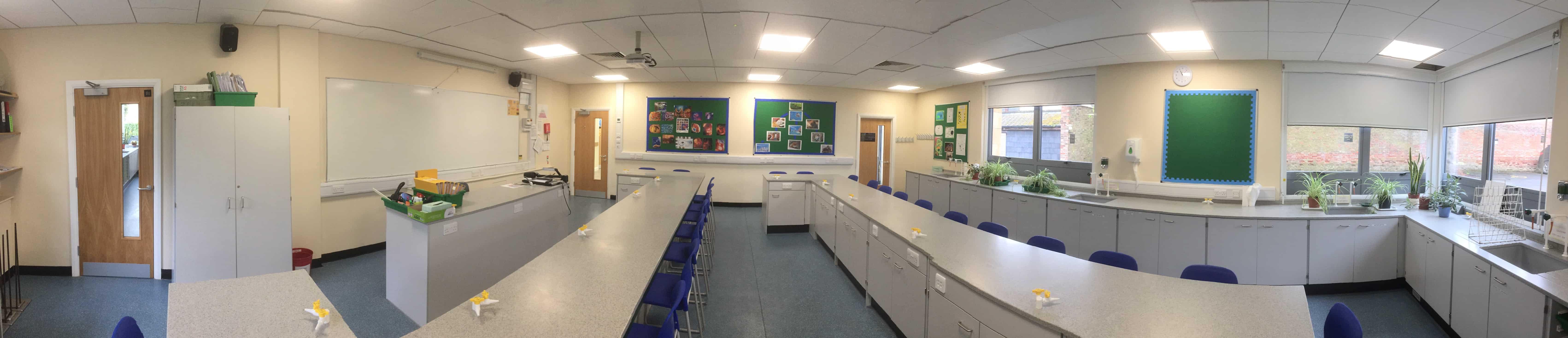 Cheltenham College science lab pano.