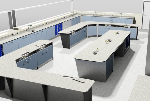 3D visual of Southfeilds Science Laboratory