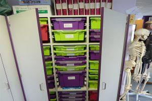 Science laboratory furniture tall storage