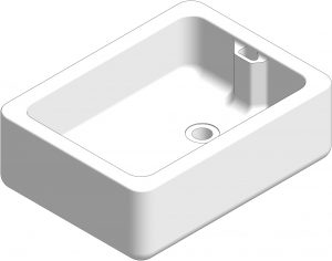 3D visual of Belfast sink for commercial science laboratories.
