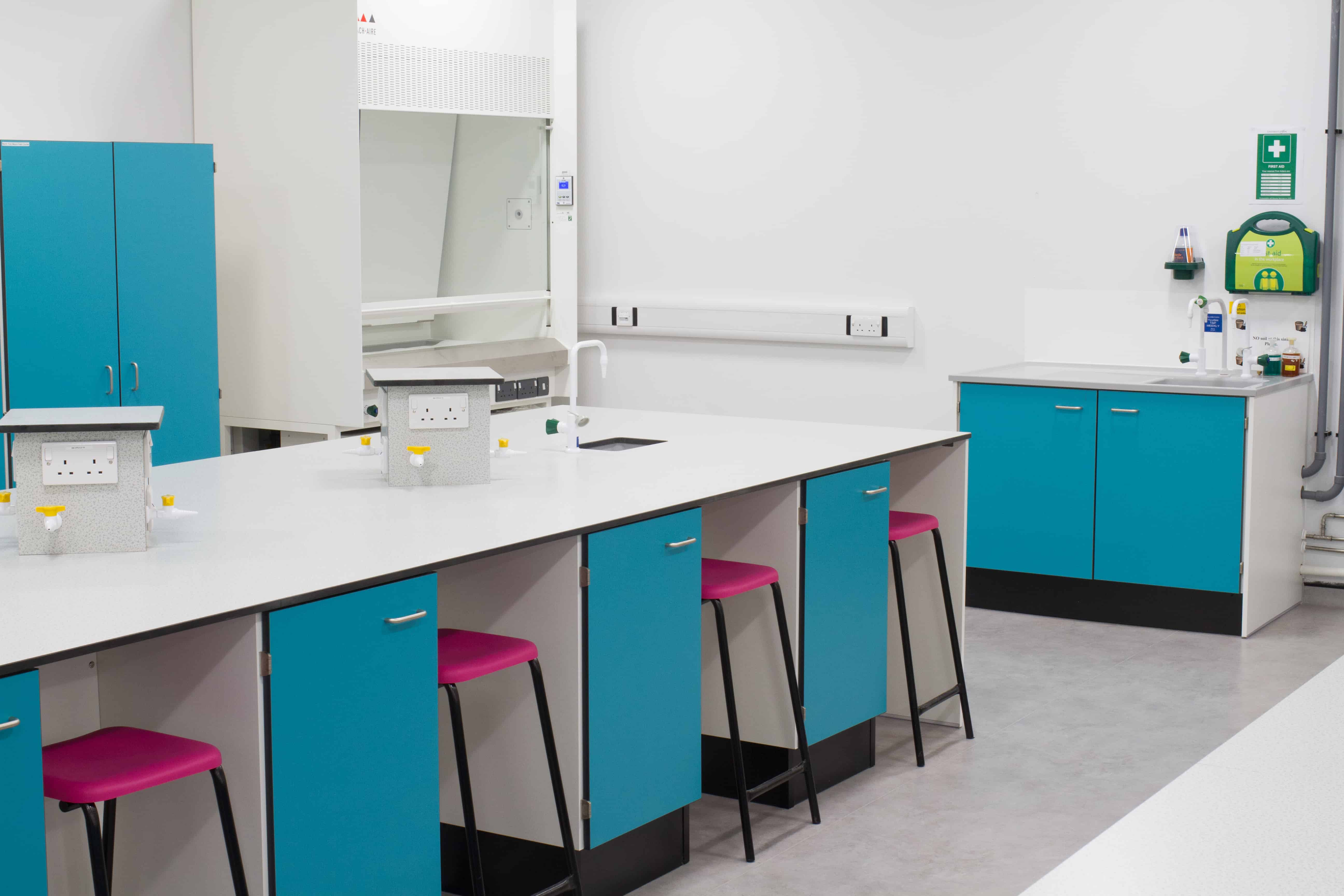 York university science laboratory Trespa worktops.