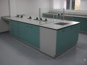 Commercial science laboratory Trespa worktop.