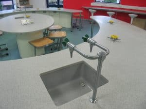 Dr Challoners School science lab satin chrome tap.