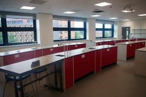 Bury College science laboratory.