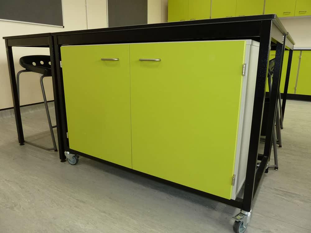 Ryedale School Science Laboratory flexible tray storage.