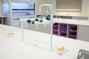 School science lab water and gas taps.