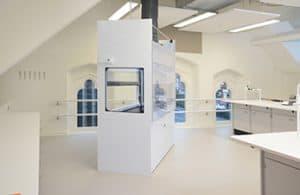 School science laboratory fume cupboard.