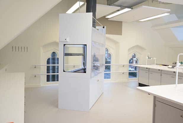 School science laboratory at Tonbridge School.