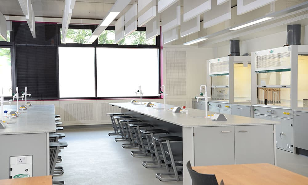 Charterhouse School science laboratory.