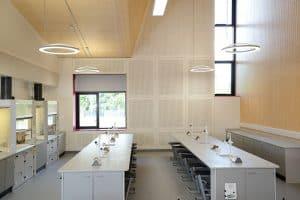 Charterhouse School science lab practical area.