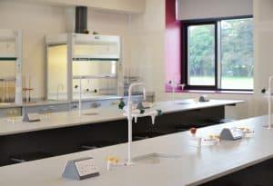 Charterhouse School science laboratory.