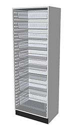 HTM71 Tall Cabinet 1700 for medical environments 3D visual.