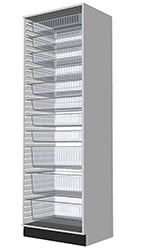 HTM71 Tall Cabinet 2100 suitable for medical environments 3D visual.