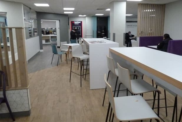Wythenshawe Hospital canteen area.