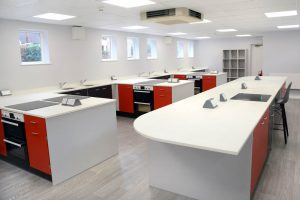 Food technology room design St Georges School Ascot