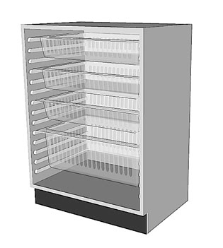 HTM71 Base Cabinet for medical environments.
